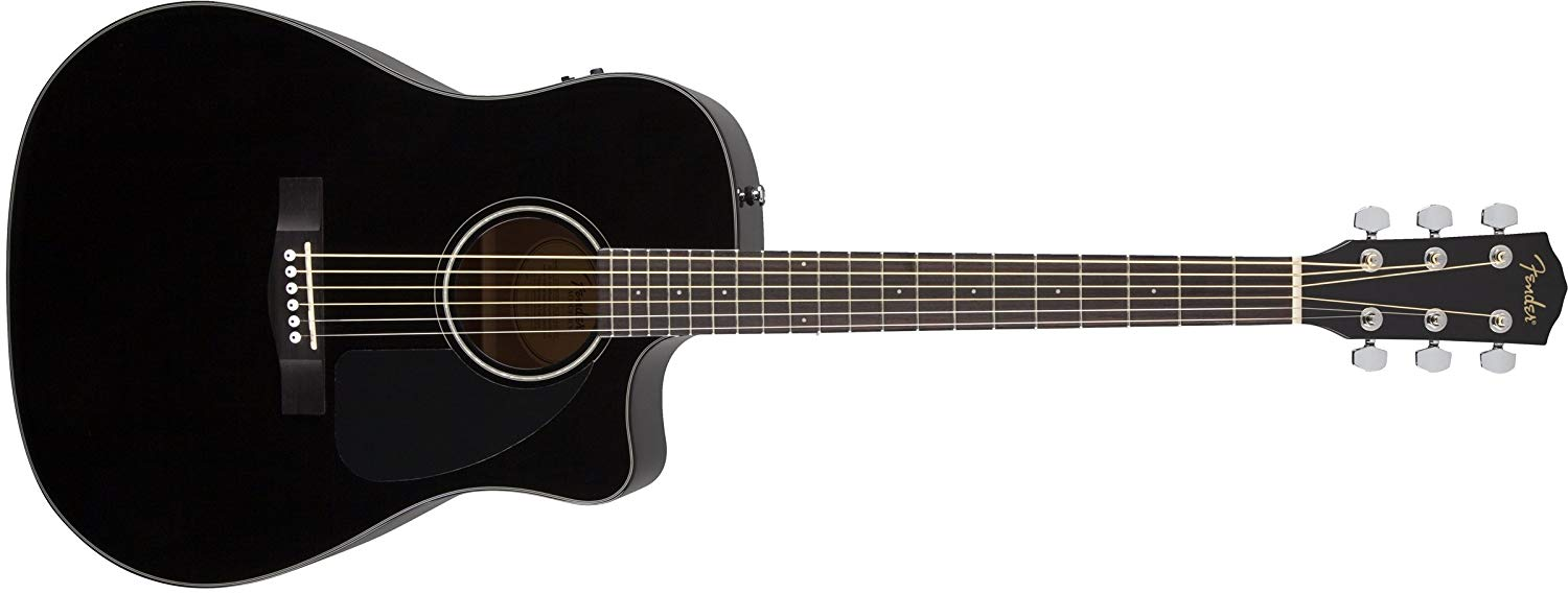 La guitara music center - Fender CD-60CE Dreadnought Cutaway Acoustic-Electric Guitar - Black